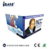 Фабрика поставляет брошюру видеоего книги LCD 4.3 дюймов видео-