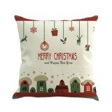 Серия Рождеством пользовательских печатных хлопок постельное белье подушки сиденья