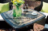 Tableau extérieur/de jardin/patio rotin/fonte d'aluminium avec le dessus de table HS7601dt