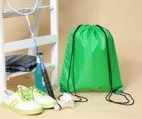 Custom Reusable Drawstring Bags blank Green Promotional polyester Drawstring Bags