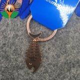 海洋連合(XD-634)のための金属の魚の骨の銅のキーホルダー