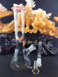 """10"""" 5X Armar Plataformas Petrolíferas difusor de vidrio Borboteadores. Con muescas cordones de color hielo color el tazón de vidrio de dos funciones Tubo de agua"""