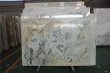 工場直接販売の壁の背景のための白い大理石のBookmatchの風景画の大理石のタイル