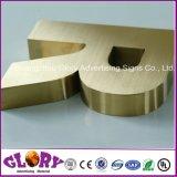 ステンレス鋼3Dの文字、ブラシまたは金の装飾的な金属の文字