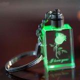 Bonito Cubo de cristal el llavero de regalo de Navidad Enviar a un amigo