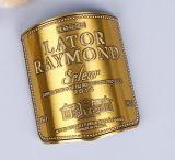 hecho personalizado baratos etiqueta etiqueta de vino de metal de aluminio