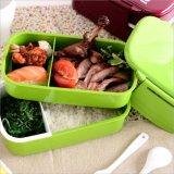 PlastikBento Mittagessen-Kasten-Nahrungsmittelbehälter mit Gabel und Löffel 20014
