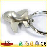 Corrente chave dos aviões do Keyring do avião do metal para o presente da promoção