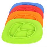 Silicone pulito facile diviso del bambino di sicurezza che alimenta Placemat con la tazza di aspirazione