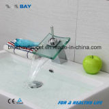 Wenzhou Bathroom Chrome Glass Waterfall Basin Mixer