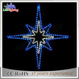 Lumières décoratives extérieures de chaîne de caractères d'étoile de Noël de la décoration DEL de fil