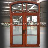 Европы и Америки Стандартный алюминиевый дверная рама перемещена из светлого дерева с полным разделить Lites окна