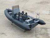 Bateau de côte d'Aqualand 21feet 6.4m Hypalon/bateau gonflable rigide de plongée (RIB640T)