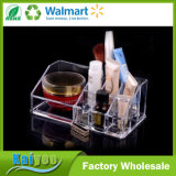 Effacer les compartiments multiples Acrylic Cosmetic Organizer Makeup Brushes Holder
