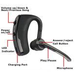 Riduzione di disturbo bassa di controllo di voce di Earbuds di sport di legenda della chipset del CSR 8615 del trasduttore auricolare di Bluetooth del Voyager del V8 della cuffia avricolare senza fili di affari con il Mic