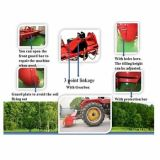 트랙터 농장은 3개 점 배양자 회전하는 타병을 실행한다