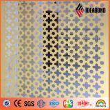熱い販売CNCの機械によって切り分けられるアルミニウム合成の壁の装飾の彫刻