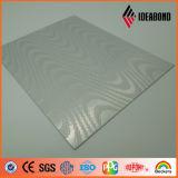 Onda metálico prateado Touch Series relevos em material compósito de alumínio
