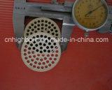 Disco de cerámica de la buena cordierita porosa del choque termal