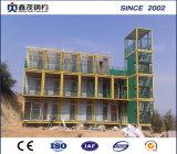 Maison de la cabine du châssis en acier avec des matériaux de construction, le dessin et installation facile