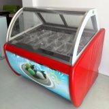 12의 쟁반 냉장고 아이스크림 Gelato 전시