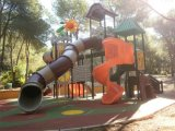 Campo da giuoco di plastica esterno del parco di divertimenti interessante del CE (12083A)