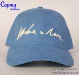 Шлем бейсбольной кепки замши материальный
