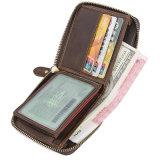 Горячая продажа классический дизайн в стиле ретро коричневый Crazy Horse Кожаное портмоне с карман для мелочи