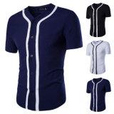 Il manicotto di Short del V-Collo del Mens alla moda dimagrisce la camicia di vestito adatta (A413)