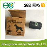 Chien de compagnie la dunette sacs biodégradables Custom imprimés sacs merde de chien de sacs de déchets pour usage extérieur