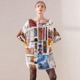 新しい編まれるプルオーバーは女性の完全な印刷EU様式のセーターの中国の製造業者によって安く着く