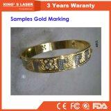 Кольцо Hall золота серебряное маркируя портативную машину 20W 30W 50W отметки лазера волокна