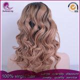 parrucca piena del merletto di colore 2t del corpo dei capelli brasiliani biondi dell'onda