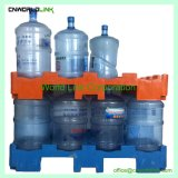 Gabelstapler-Speicher-stapelbares langlebiges Gut 5 Gallonen-Wasser-Wannen-Plastikladeplatte