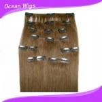 2015 brasileiro Hair Clips Virgin Remy Hair Hair Clip em Human Hair Extensions (CH-003)