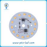 Módulo impermeável do PWB do diodo emissor de luz da C.A. do projeto agradável 9W Driverless para a luz de bulbo