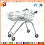 Chariot en plastique à achats de supermarché en métal de fil (ZHt238)