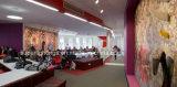 유럽 질 알루미늄 단면도 펀던트 사무실 LED 선형 점화