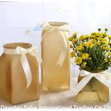 Cuadrado coloreado Jarrón de flores/frasco de vidrio