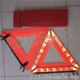Triangolo d'avvertimento infiammante del segnale stradale LED