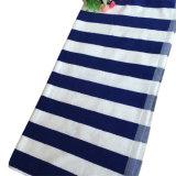 Tovagliolo 100% di bagno tinto filato blu della spiaggia del jacquard della striscia del cotone