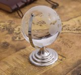Cadeau délicat de promotion de verre transparent terrestre Crystal Terrestrial Globe