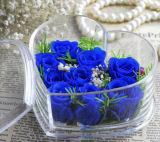 El rectángulo de acrílico claro de encargo de la flor en la boda/el cumpleaños/la Navidad adorna el partido