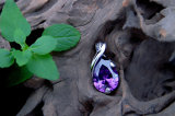 Tegenhanger van het Kristal van de Juwelen van de Tegenhanger van Waterdop van het Kristal van halsbanden de Tegenhangers Gepersonaliseerde
