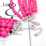 Halsbanden van de Manier van de Verklaring van de Bal van de Vrouwen van Bohemen de Elegante Rozerode Multilayer