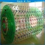 Bola de rodillo flotante inflable transparente del agua para la diversión