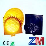 Luz de advertência de piscamento psta solar do amarelo da lâmpada da estrada do brilho elevado/diodo emissor de luz