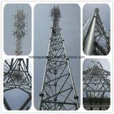 La colonne du tube en acier galvanisé micro-ondes radio de l'antenne GSM 3 jambes tour de tuyau