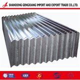 Folha de metal corrugado Galvanzied SGCC Gi de aço para construção