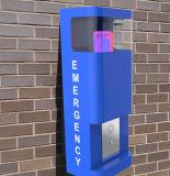 Emergency Wand-Station, im Freientelefon, Freisprechtelefon, grelles helles Telefon